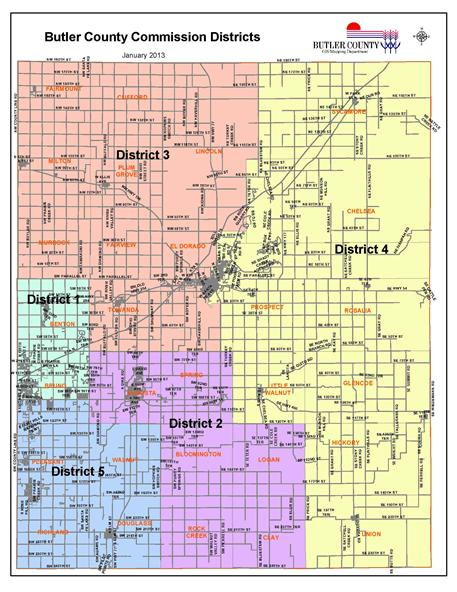 Commission District Map | Butler County, KS - Official Website