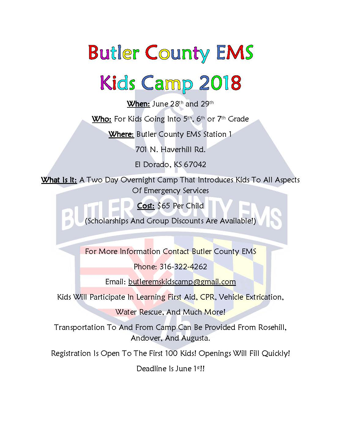 Kids Camp Flyer 2018