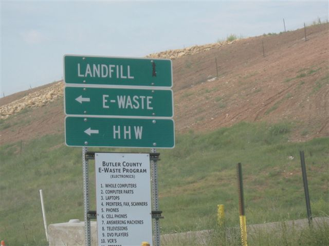 Landfill, E-Waste, and HHW signs